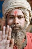 Homme avec le point rouge dans le Bengale-Occidental Photo stock