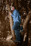 Homme avec le regard intensif Photographie stock libre de droits