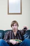 Homme avec le repas Photographie stock libre de droits