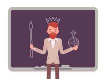 Homme avec le roi tiré illustration libre de droits