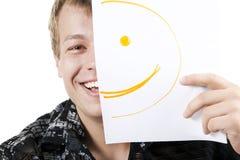 Homme avec le smiley Image libre de droits