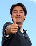 Homme avec le thumbs-up Images stock