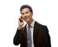 Homme avec le téléphone portable Photos stock