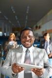 Homme avec le touchpad Photo libre de droits