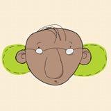 Homme avec le vert derrière des oreilles Photo stock