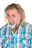 Homme avec les dents serrées Images stock