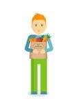 Homme avec les légumes frais photographie stock libre de droits