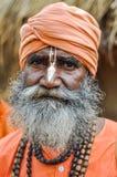 Homme avec les yeux tristes dans le Bengale-Occidental Image stock