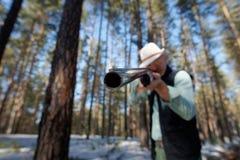 Homme avec un canon Photo libre de droits