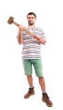 Homme avec un marteau Image libre de droits