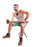 Homme avec un marteau Photos libres de droits