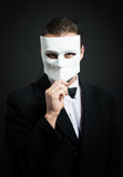 Homme avec un masque Photos libres de droits