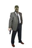 Homme avec un pistolet Images libres de droits
