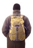 Homme avec un sac à dos Photographie stock libre de droits