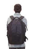 Homme avec un sac à dos Photo stock