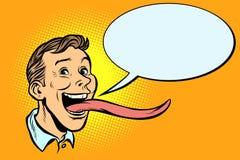 Homme avec une languette longue illustration de vecteur