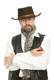 Homme avec une pipe de fumage. Images libres de droits