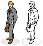 Homme avec une serviette Illustration Libre de Droits