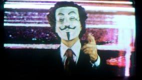Homme avec v pour le masque de vendetta