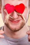 Homme aveuglé par l'amour Photos libres de droits
