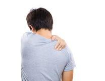 Homme ayant la douleur cervicale Image libre de droits