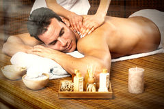 Homme ayant le massage. Images stock