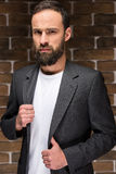 Homme barbu Photographie stock