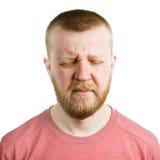 Homme barbu avec ses yeux fermés images libres de droits