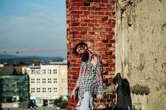 Homme barbu de zombi photo stock