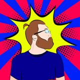 Homme barbu en verres dedans illustration de vecteur