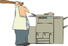 Homme battant une machine de copie illustration libre de droits