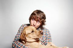 Homme beau de hippie de portrait de plan rapproché jeune Image stock
