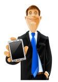 Homme bel avec le téléphone Illustration Stock