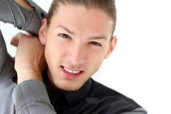 Homme bel avec une barbe Photo libre de droits