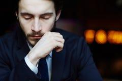 Homme bel d'affaires avec des yeux fermés Photos libres de droits