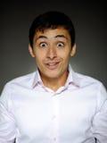 Homme bel d'affaires d'expressions choqué Photographie stock