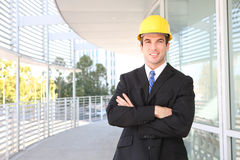Homme bel de construction Photos stock