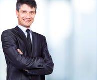 Homme bel de sourire d'affaires Photo libre de droits