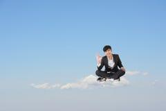 Homme bien de nuage Photo stock