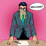 Homme bienvenu illustration stock