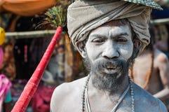 Homme blanc dans le Bengale-Occidental Photo stock