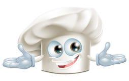 Homme blanc heureux de dessin animé de chapeau de chefs Image libre de droits