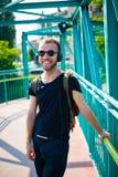Homme blond élégant moderne de hippie Photos libres de droits