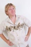 Homme blond. Photographie stock libre de droits