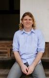 Homme blond attirant photo libre de droits