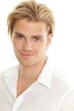 Homme blond de verticale Photographie stock libre de droits