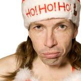 Homme boudant de Noël Image stock