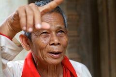 Homme aîné cambodgien Image libre de droits
