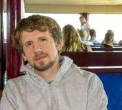 Homme caucasien de déplacement Image libre de droits