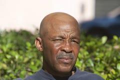 Homme chauve d'Afro-américain image libre de droits